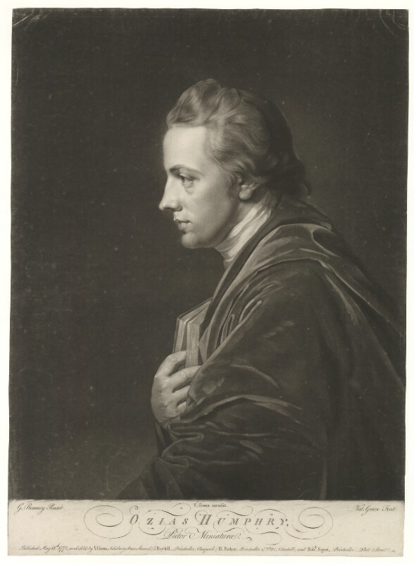 Ozias Humphry, by and published by Valentine Green, published by  John Boydell, or published by  Josiah Boydell, published by  Henry Parker, published by  Robert Sayer, after  George Romney, published 18 May 1772 (1772) - NPG D36387 - © National Portrait Gallery, London