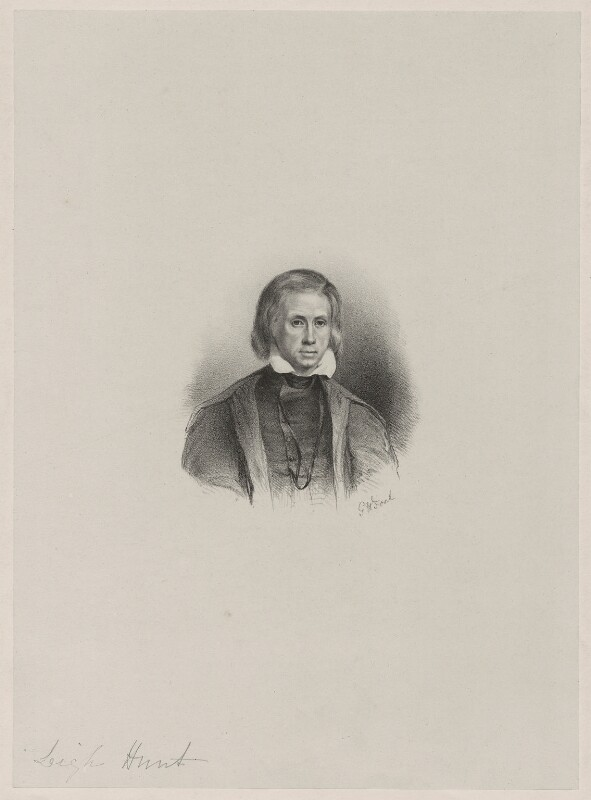 Leigh Hunt, by Unknown artist, mid 19th century - NPG D36389 - © National Portrait Gallery, London