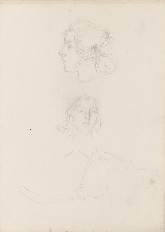 Two unknown sitters, by Henry Tonks, circa 1900-1932 - NPG 3072(4a) - © National Portrait Gallery, London