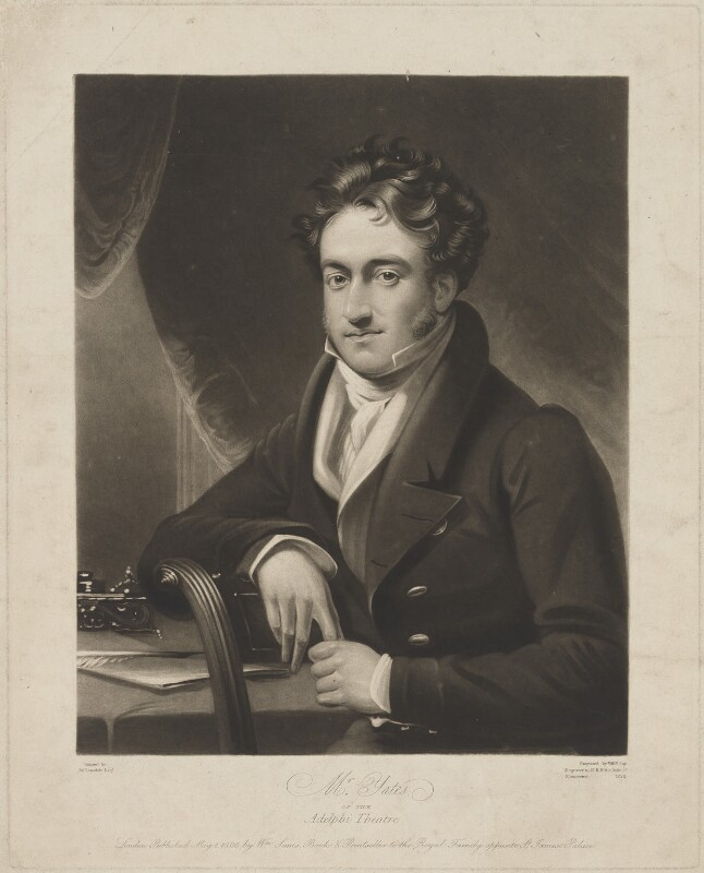 Richard Yates, by William Say, published by  William Sams, after  James Lonsdale, published 1 May 1826 - NPG D36239 - © National Portrait Gallery, London