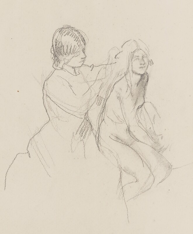 Two unknown women, by Henry Tonks, circa 1900-1932 - NPG 3072(5a) - © National Portrait Gallery, London