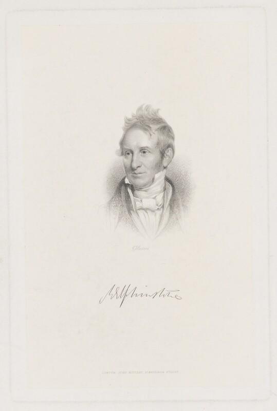 Mountstuart Elphinstone, by George J. Stodart, published by  John Samuel Murray, after  Henry William Pickersgill, late 19th century - NPG D36168 - © National Portrait Gallery, London