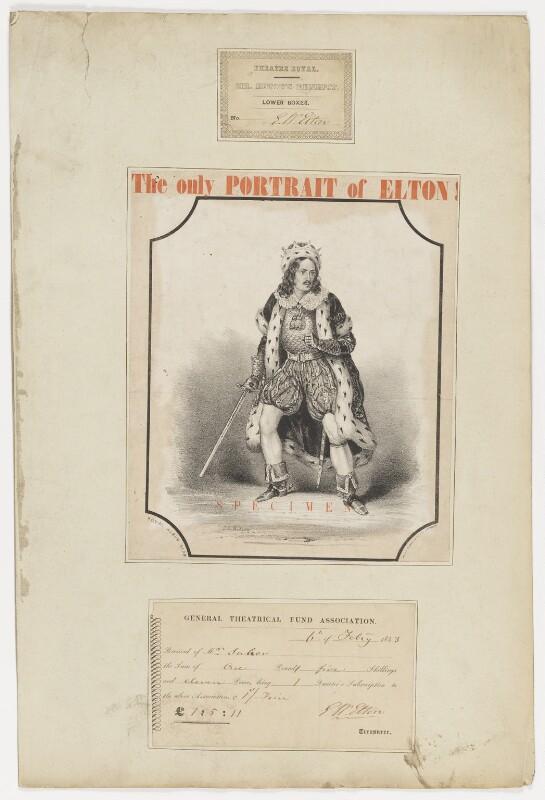 Edward William Elton (Elt), by T.C. Wilson, 1831 or after - NPG D36176 - © National Portrait Gallery, London