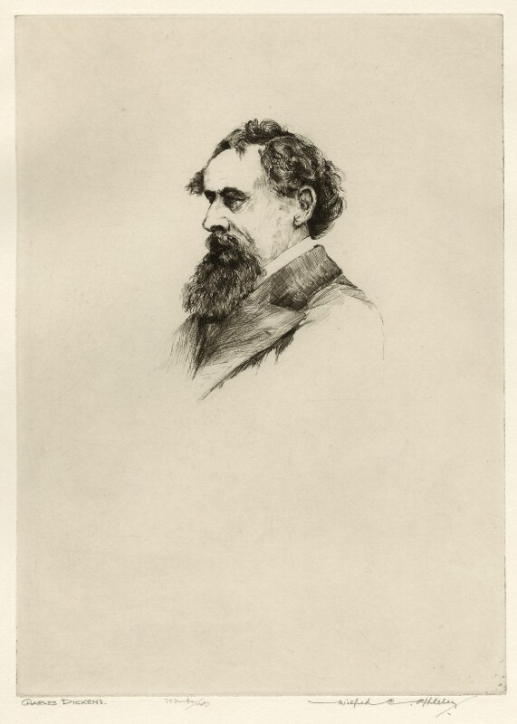 Charles Dickens, by Wilfred Crawford Applebey, after  John & Charles Watkins, 1927 or before (1863) - NPG D36601 - © National Portrait Gallery, London