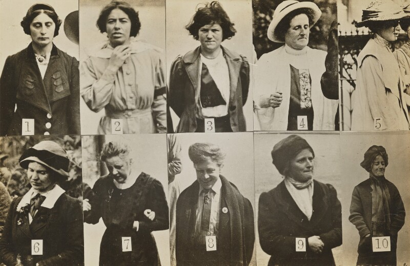 'Surveillance Photograph of Militant Suffragettes', by Criminal Record Office, 1914 - NPG x132846 - © National Portrait Gallery, London