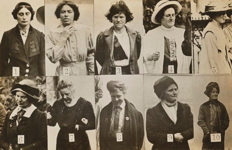 'Surveillance Photograph of Militant Suffragettes', by Criminal Record Office, 1914 - NPG x132846 - © National Portrait Gallery, London