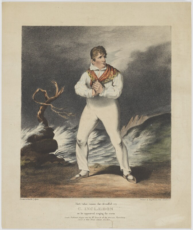 Charles Incledon, printed by Engelmann, Graf, Coindet & Co, published by  William Kenneth, after  Joseph Ayton, published August 1826 - NPG D36441 - © National Portrait Gallery, London