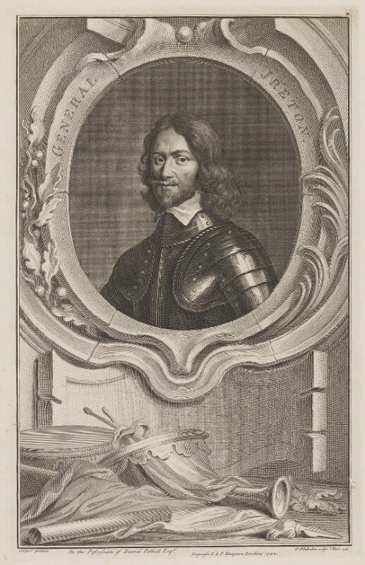 Henry Ireton, by Jacobus Houbraken, published by  John & Paul Knapton, after  Samuel Cooper, published 1742 (1741) - NPG D36451 - © National Portrait Gallery, London