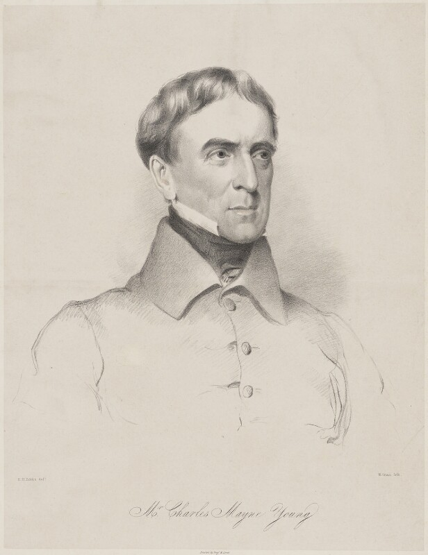 Charles Mayne Young, by Maxim Gauci, printed by  Graf & Soret, after  Eden Upton Eddis, 1839 - NPG D36262 - © National Portrait Gallery, London