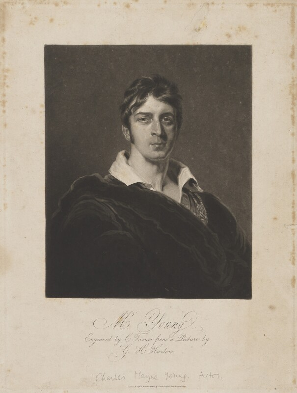 Charles Mayne Young, by Charles Turner, published by  James Dunford, after  George Henry Harlow, published 1 December 1812 - NPG D36263 - © National Portrait Gallery, London