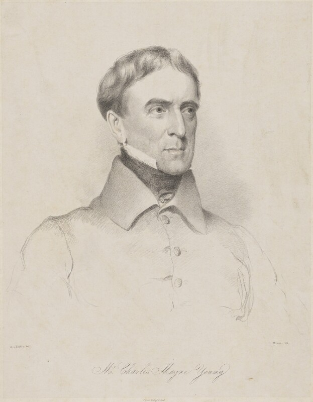 Charles Mayne Young, by Maxim Gauci, printed by  Graf & Soret, after  Eden Upton Eddis, 1839 - NPG D36266 - © National Portrait Gallery, London