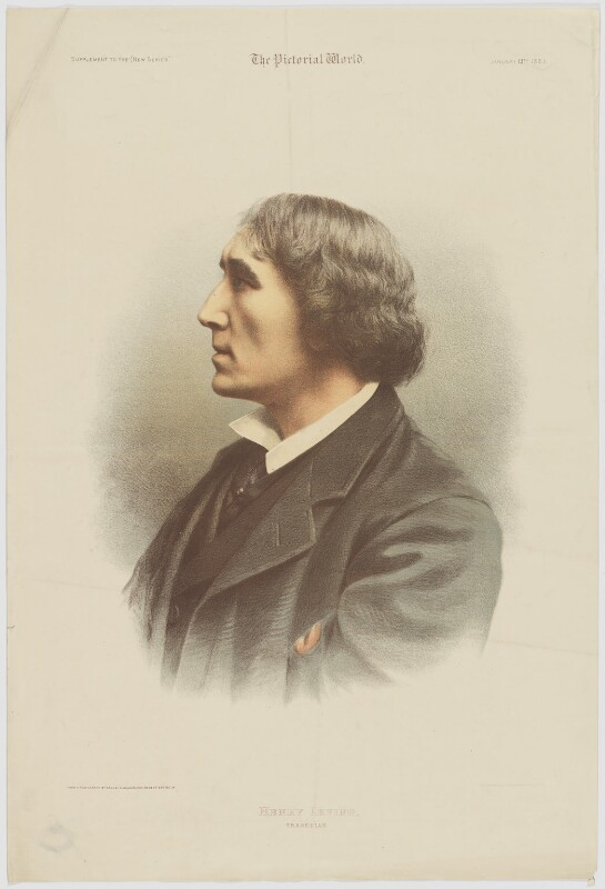 Sir Henry Irving, by Maclure & Macdonald, published by  The Pictorial World, after  Samuel Alexander Walker, published 13 January 1883 - NPG D36456 - © National Portrait Gallery, London