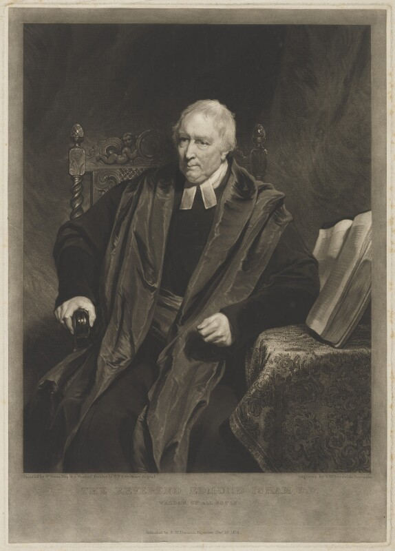 Edmund Isham, by and published by Samuel William Reynolds, after  William Owen, published 10 December 1818 - NPG D36459 - © National Portrait Gallery, London