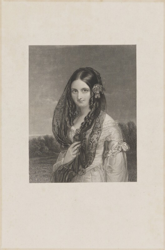 Mrs Young, by John Henry Robinson, after  Sir William Charles Ross, mid 19th century - NPG D36270 - © National Portrait Gallery, London