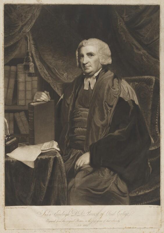 John Eveleigh, by William Say, after  John Hoppner, 1809 - NPG D36598 - © National Portrait Gallery, London