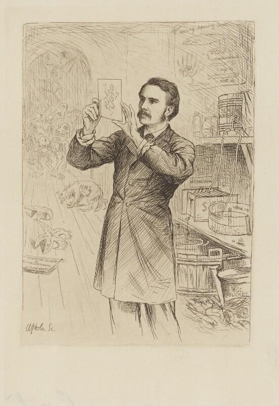 James Cossar Ewart, by William Brassey Hole, published 1884 - NPG D36610 - © National Portrait Gallery, London