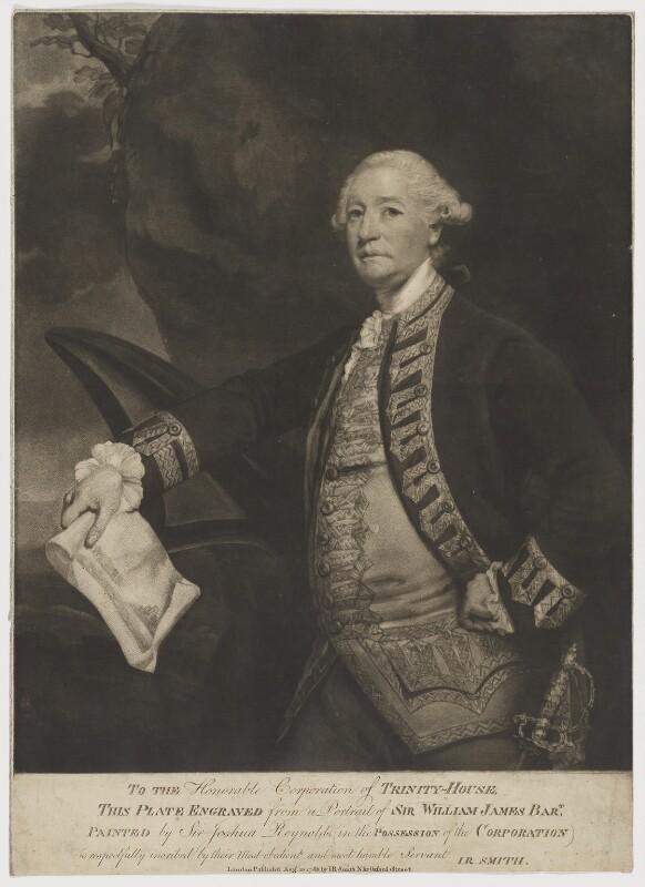 Sir William James, 1st Bt, published by John Raphael Smith, after  Sir Joshua Reynolds, published 10 August 1783 (1780-1782) - NPG D36481 - © National Portrait Gallery, London