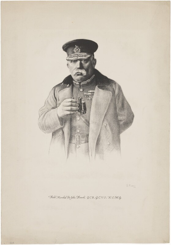 John Denton Pinkstone French, 1st Earl of Ypres, by Unknown artist, circa 1913-1915 - NPG D36274 - © National Portrait Gallery, London