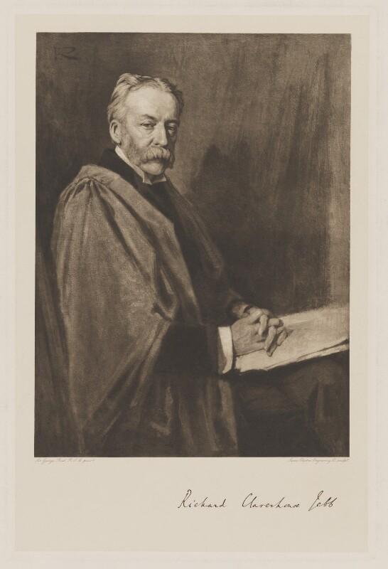 Sir Richard Claverhouse Jebb, by Swan Electric Engraving Co., after  Sir George Reid, 1903-1905 (1903) - NPG D36491 - © National Portrait Gallery, London