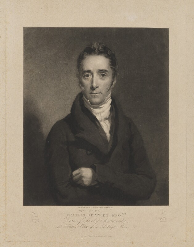 Francis Jeffrey, Lord Jeffrey, by Samuel Cousins, published by  William Walker, after  Colvin Smith, published May 1830 - NPG D36492 - © National Portrait Gallery, London