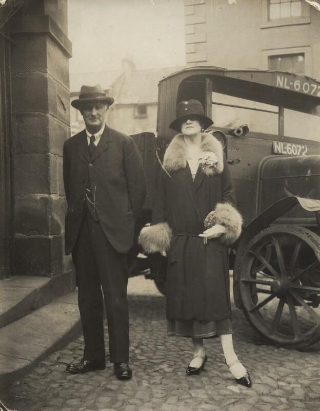 Edward Grey, 1st Viscount Grey of Fallodon; Pamela Grey (née Wyndham, later Lady Glenconner), Viscountess Grey of Fallodon, by Unknown photographer, mid 1920s - NPG x132872 - © National Portrait Gallery, London