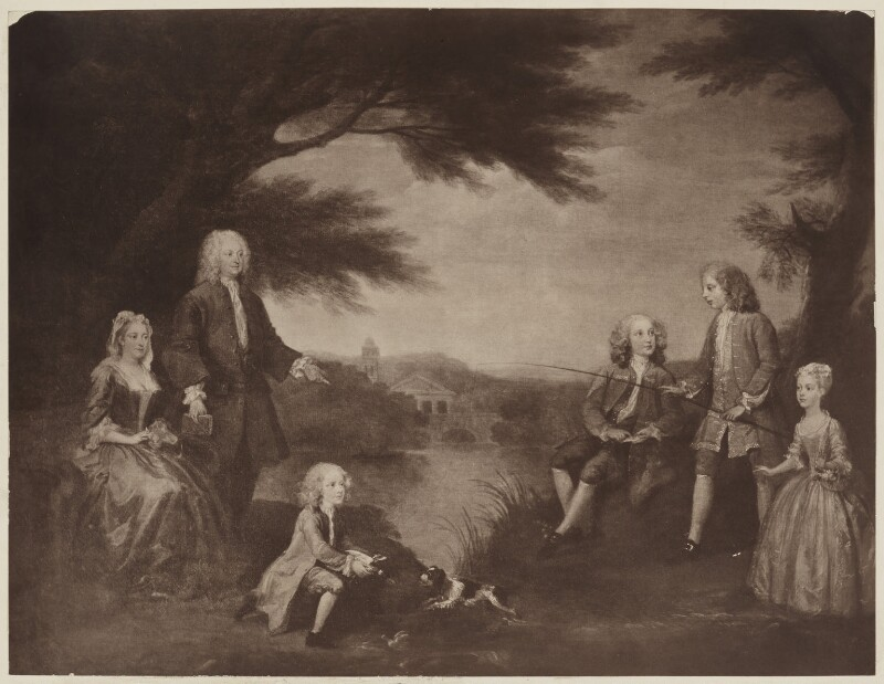Portrait of the Jeffreys family, after William Hogarth, before 1912 (1720) - NPG D36496 - © National Portrait Gallery, London