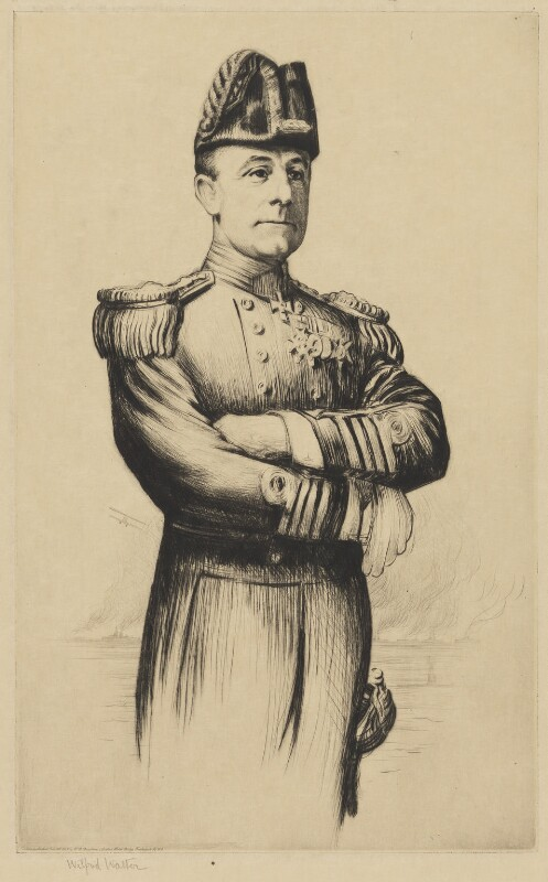 John Rushworth Jellicoe, 1st Earl Jellicoe, published by William Robert Deighton, published 18 February 1915 - NPG D36501 - © National Portrait Gallery, London
