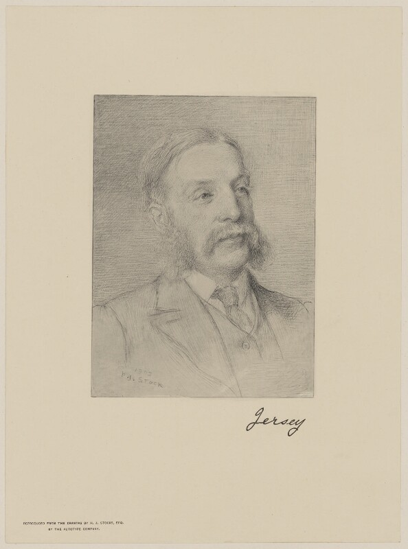 Victor Albert George Child-Villiers, 7th Earl of Jersey, by The Autotype Company, after  Henry John Stock, (1903) - NPG D36515 - © National Portrait Gallery, London