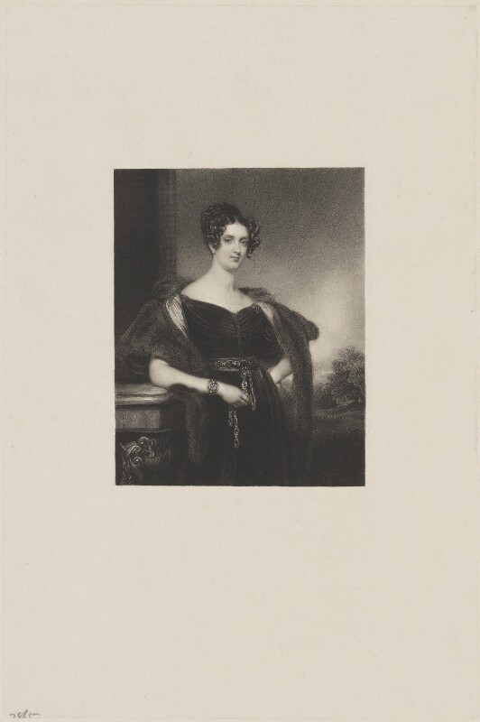 Sophia Jane Dundas (née Williamson), Countess of Zetland, by John Cochran, after  Henry Perronet Briggs, 1820s-1830s - NPG D36279 - © National Portrait Gallery, London