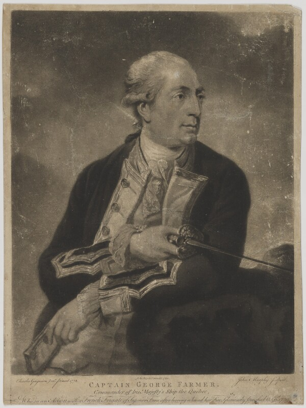 George Farmer, by John Murphy, published by  John Boydell, after  Charles Grignion, published 1780 (1778) - NPG D36652 - © National Portrait Gallery, London