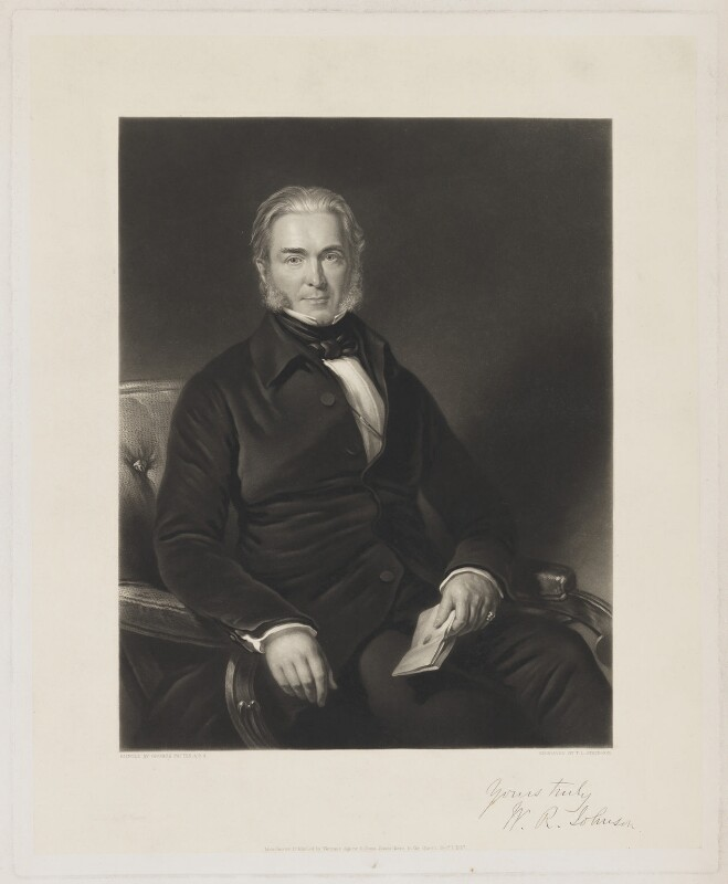 W.R. Johnson, by Thomas Lewis Atkinson, printed by  W. Hallom, published by  Thomas Agnew & Sons Ltd, after  George Patten, published 1 December 1857 - NPG D36544 - © National Portrait Gallery, London