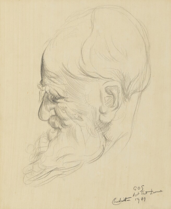 George Bernard Shaw, by Clare Winsten (Clara Birnberg), 1949 - NPG 6891 - © National Portrait Gallery, London