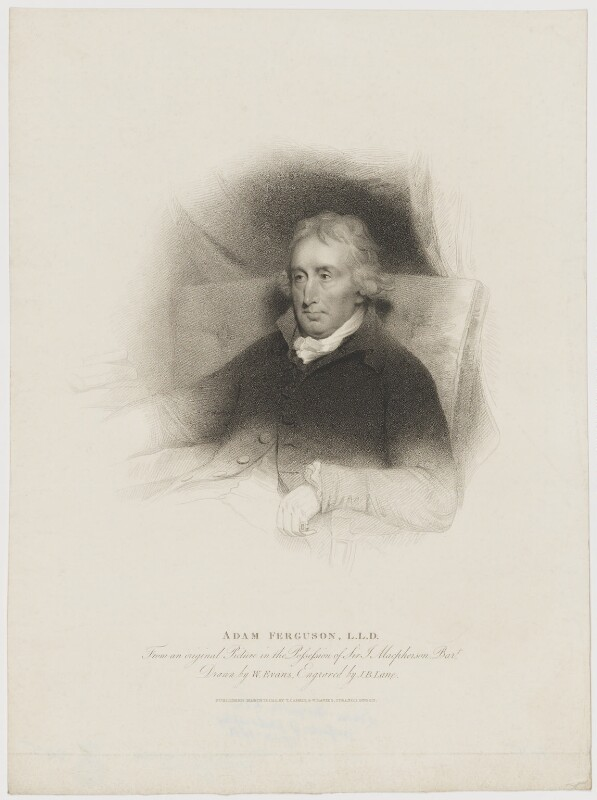 Adam Ferguson, by John Bryant Lane, published by  William Evans, after  T. Cadell & W. Davies, after  Sir Henry Raeburn, published 17 March 1815 - NPG D36688 - © National Portrait Gallery, London