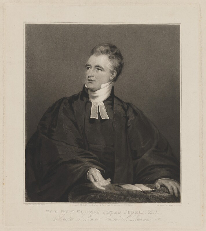 Thomas James Judkin, by and published by James Scott, printed by  Dixon & Ross, after  William Fisk, published 2 June 1834 - NPG D36746 - © National Portrait Gallery, London