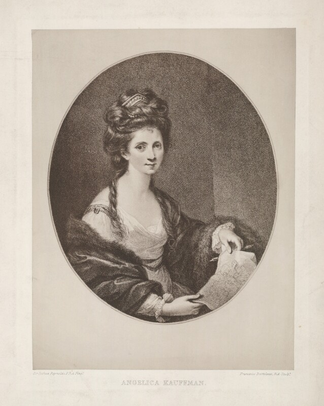 Angelica Kauffmann, printed and published by The Autotype Company, after  Sir Joshua Reynolds, late 19th century (circa 1777-1778) - NPG D36751 - © National Portrait Gallery, London