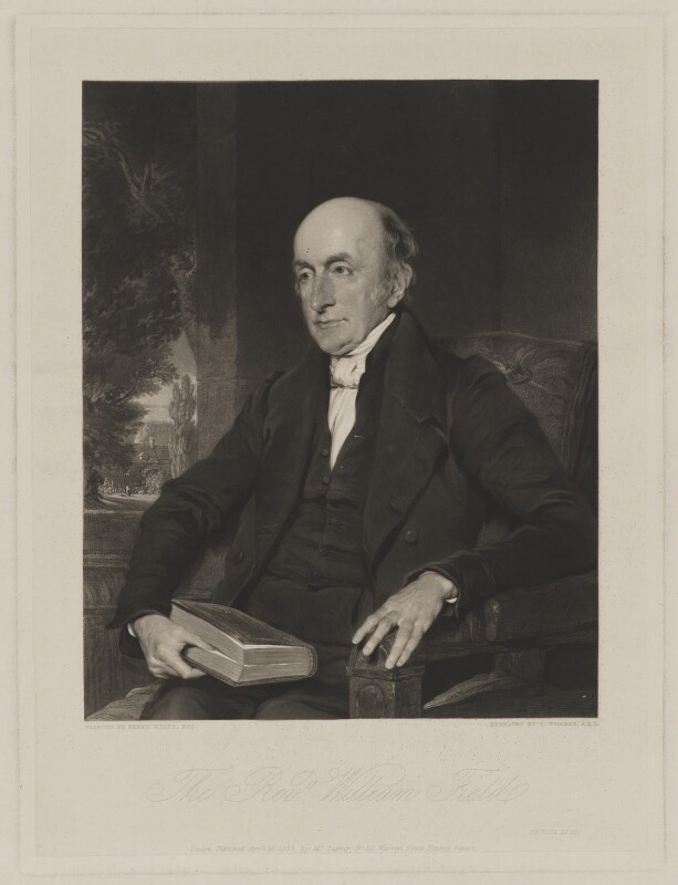 William Field, by and published by Charles Turner, after  Henry Wyatt, published 16 April 1839 - NPG D36912 - © National Portrait Gallery, London