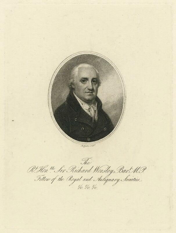 Sir Richard Worsley, 7th Bt, by Anthony Cardon, 1790s - NPG D36302 - © National Portrait Gallery, London