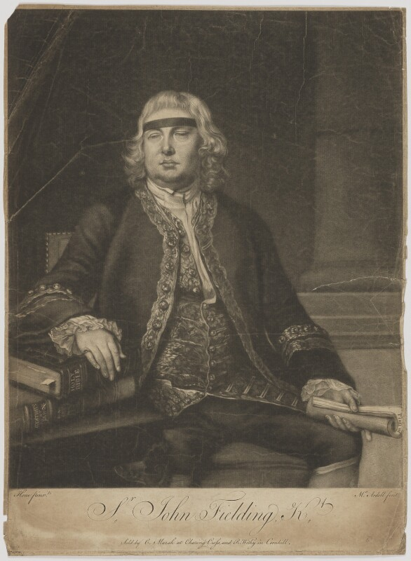 Sir John Fielding, by James Macardell, after  Nathaniel Hone, (1762) - NPG D36917 - © National Portrait Gallery, London