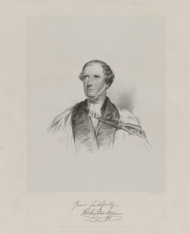 John Leighton Figgins, by John Alfred Vinter, printed by  Day & Son, published by  Thomas Agnew & Sons Ltd, after  Charles Allen Duval, published 1 August 1857 - NPG D36919 - © National Portrait Gallery, London