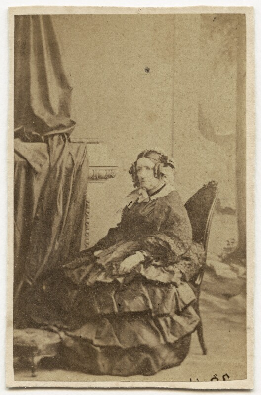 Selina (née Hayes), Lady Fitzwygram, by Unknown photographer, early-mid 1860s - NPG Ax46431 - © National Portrait Gallery, London