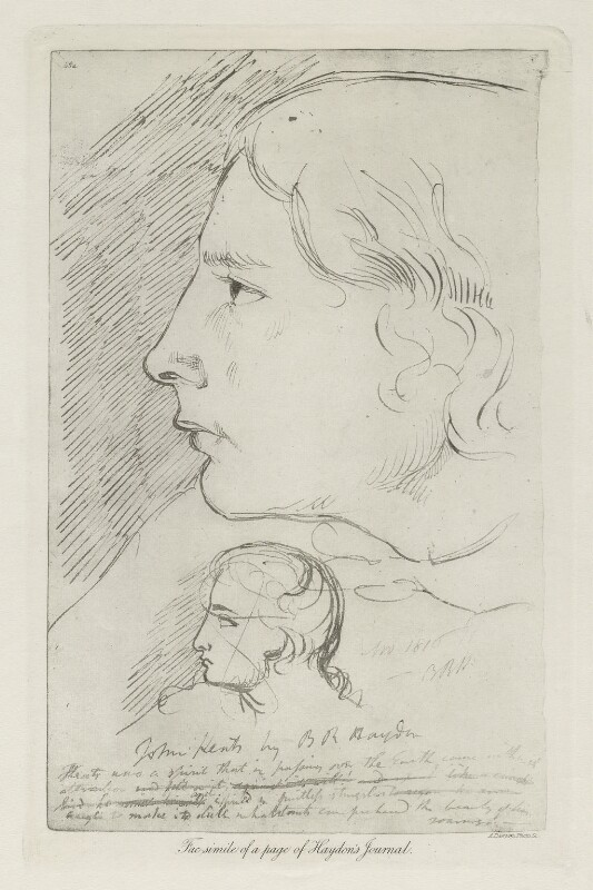 John Keats, by Arthur Dawson, after  Benjamin Robert Haydon, before 1934 (1816) - NPG D36764 - © National Portrait Gallery, London