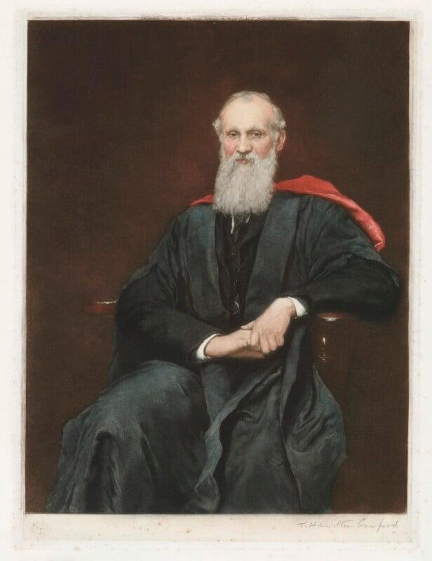William Thomson, Baron Kelvin, by Thomas Hamilton Crawford, after  Sir Hubert von Herkomer, (1891) - NPG D36811 - © National Portrait Gallery, London