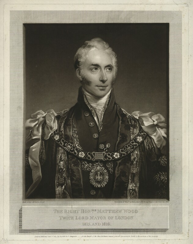 Sir Matthew Wood, 1st Bt, by William Say, published by  Josiah Boydell, after  Arthur William Devis, published 1 January 1817 (1815-1816) - NPG D37015 - © National Portrait Gallery, London