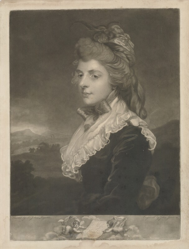 Fanny Kemble, by and published by John Jones, after  Sir Joshua Reynolds, published 23 March 1784 (1783) - NPG D36818 - © National Portrait Gallery, London