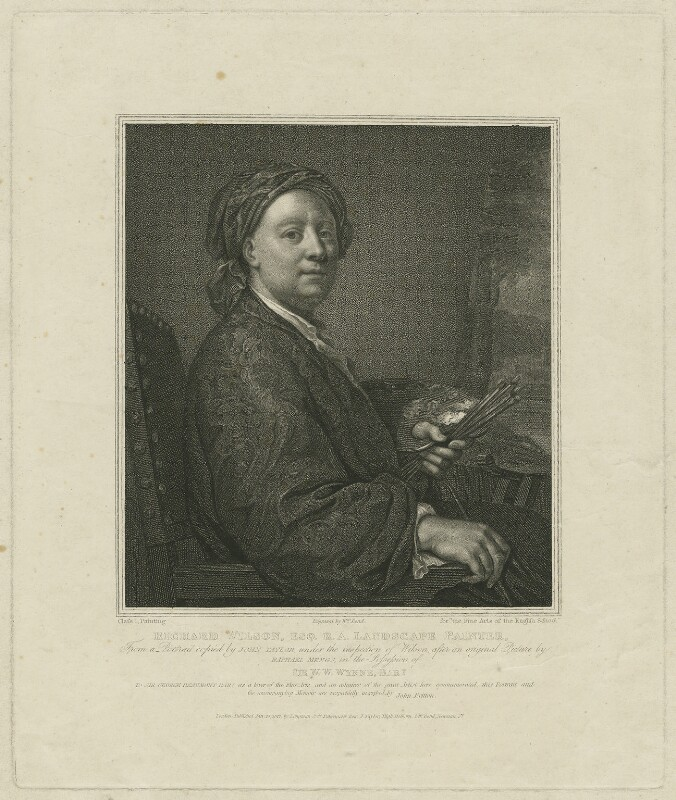Richard Wilson, by and published by William Bond, published by  Longman & Co, published by  Josiah Taylor, after  Anton Raphael Mengs, published 20 January 1812 - NPG D37032 - © National Portrait Gallery, London
