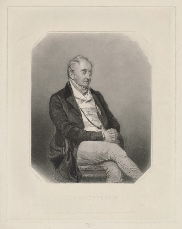 John Kennedy, by James Thomson (Thompson), printed by  W. Hatton, published by  Thomas Agnew, published by  Ackermann & Co, after  Charles Allen Duval, published 1 June 1847 - NPG D36833 - © National Portrait Gallery, London