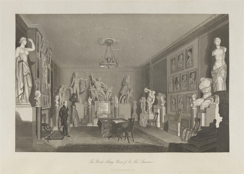 The Private Sitting Room of Sir Thomas Lawrence, published for Mr Keightley, published December 1830 - NPG D37049 - © National Portrait Gallery, London