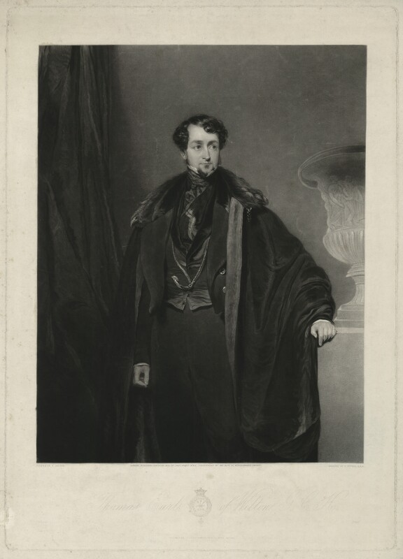 Thomas Grosvenor Egerton, 2nd Earl of Wilton, by Charles Turner, published by  Sir Francis Graham Moon, 1st Bt, after  John Bostock, published 1835 - NPG D37044 - © National Portrait Gallery, London