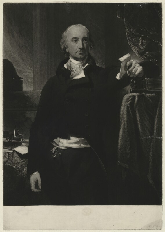 Hon. William Windham, by Samuel William Reynolds, after  Sir Thomas Lawrence, 1803-1835 (1803) - NPG D37054 - © National Portrait Gallery, London