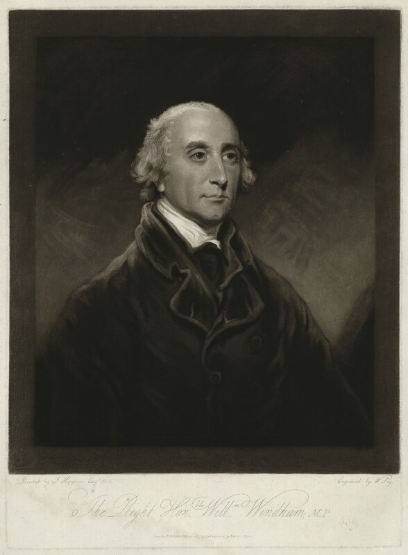 Hon. William Windham, by and published by William Say, after  John Hoppner, published 2 May 1803 - NPG D37055 - © National Portrait Gallery, London